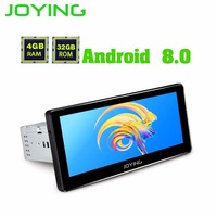 JOYING latest 4GB RAM 8 core Android 8.0 car head unit autoradio support carplay GPS 1DIN Universal HD 8.8'' Radio tape recorder