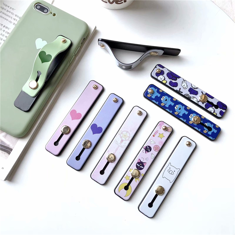 TJHSZKL Push-pull Ring Push-pull Multi-function U-type Push-pull Bracket Lazy Mobile Phone Ring Buckle Bracket For Mobile Phones