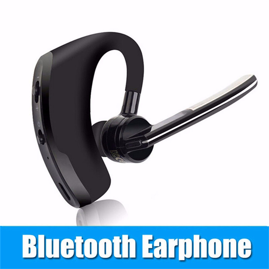 V8 Business Bluetooth Earphone Noise Cancelling Voice Control Handsfree Wireless Bluetooth Headphone Sport Office Music Headset qcy q25 bluetooth 4 1 earphone wireless noise cancelling headphone