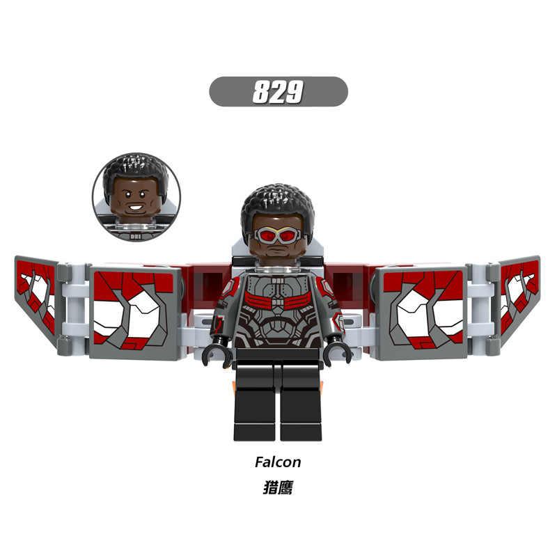 X0187 LegoINGly المنتقمون الكابتن المعجزة النمل سوبر بطل العنكبوت الرجل الحديدي الجص العملاق دبور اللبنات لعبة للاطفال