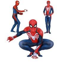 Взрослые Дети Мальчики Insomniac игры человек-паук костюм зентай для косплея Человек-паук боди супергероя костюм комбинезоны