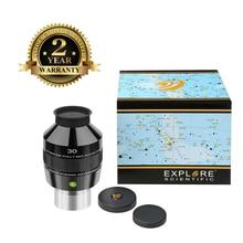 лучшая цена New Explore Scientific Eyepiece 82 degree Extreme Wide Field Waterproof 2inch 30mm Argon-Purged