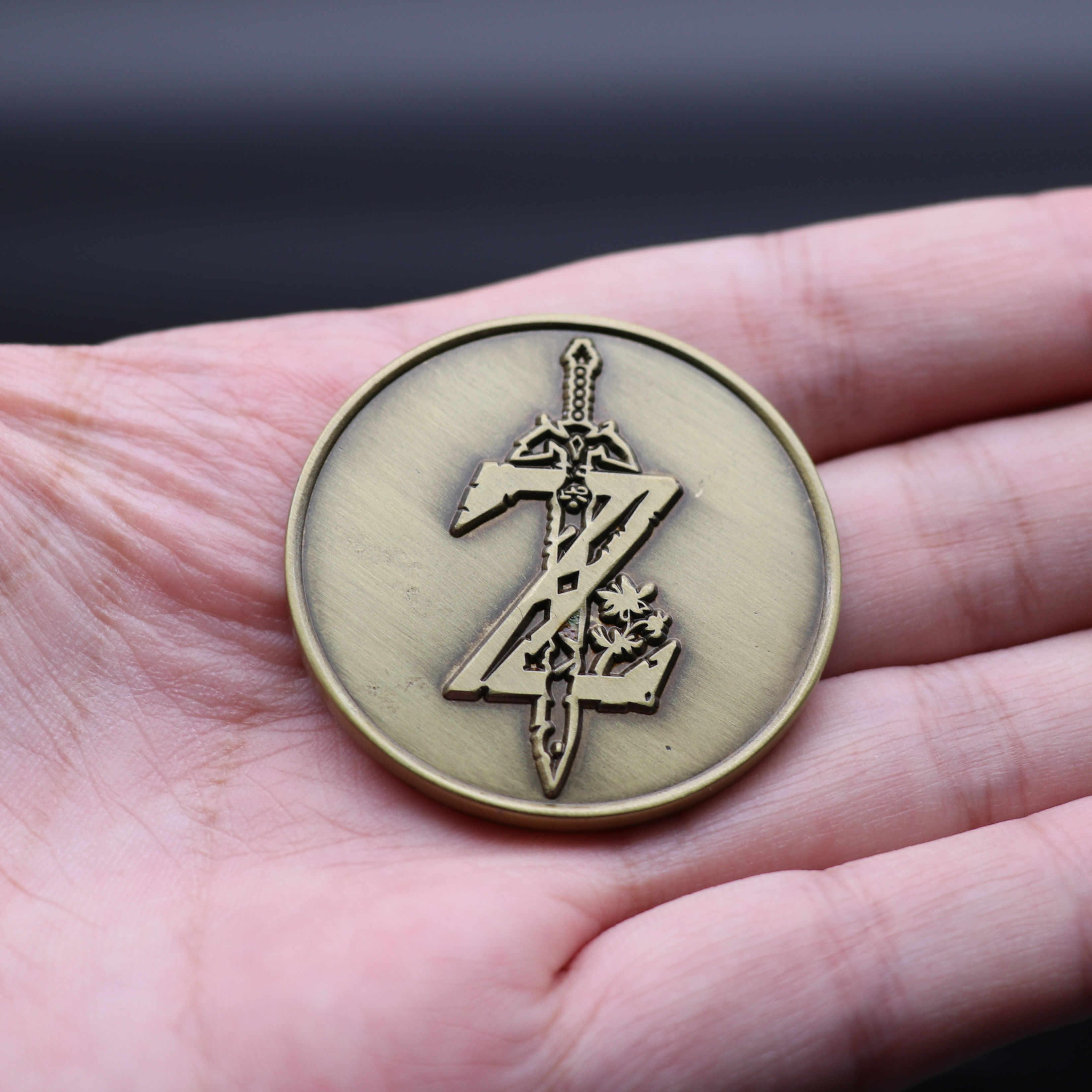 Jeu de la légende de Zelda, insigne de pièces commémoratives de 4CM