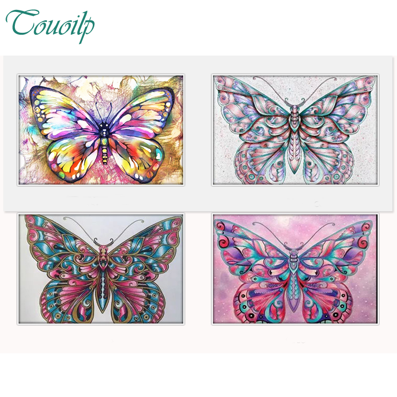 Diamante pintura colorido mariposa Diy diamante bordado mosaico ...
