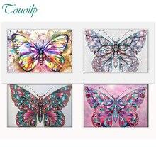 Алмаз живопись красочные бабочки Diy алмаз вышивка мозаика ручной работы Наборы животный принт Home Decor