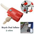 Bicycle Dual Inflator Pump Hose Adaptor Head Tyre Tube Replacement Plastic Schrader Presta White