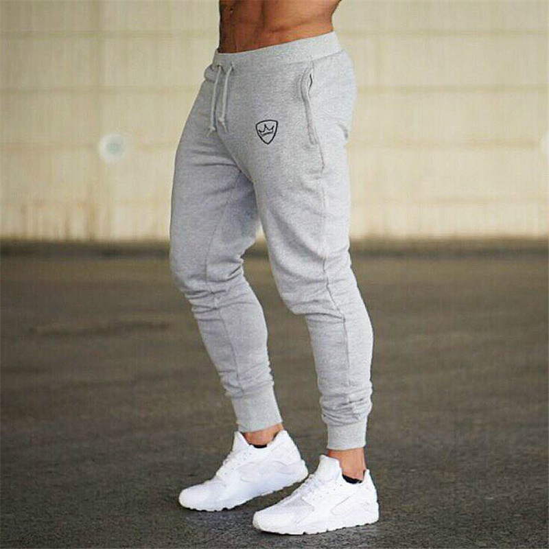 New Men Joggers Brand Male Trousers Casual Pants Sweatpants Jogger Gray Casual Elastic Cotton GYMS Fitness Workout Pants