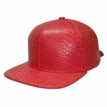 Красный змеиной Strapback Python бейсболка много цветов на выбор, горячие стиль в Aliexpress