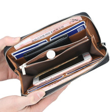 цена на High Quality Brand Men Wallets Long Men Purse Wallet Male Clutch Pu Leather Zipper Wallet Men Business Male Wallet Coin