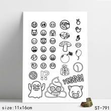 ZhuoAng Cartoon smiling face  Stamp for DIY Scrapbooking/Photo Album Decorative Card Making Clear Stamps Supplies