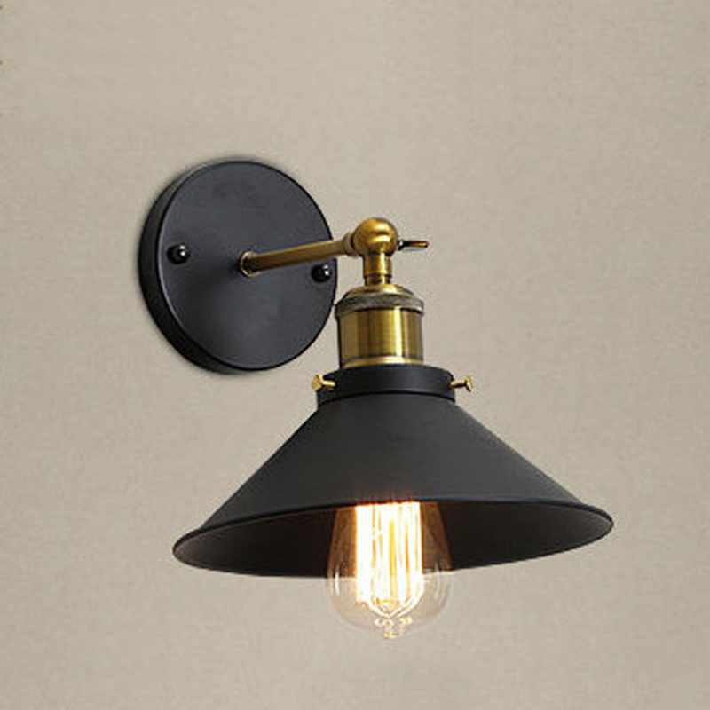 Industrial Wall lamp E27 Base Retro Attic LED Wall Lights Stairs Bathroom Iron Wall Lights|Wall Lamps| |  - title=