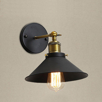 Industrial Wall lamp E27 Base Retro Attic LED Wall Lights Stairs Bathroom Iron Wall Lights|Wall Lamps| |  -