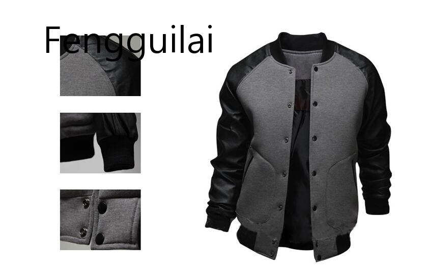 2019 New Brand Baseball Coats Jackets 2019 Fashion Design Spring Autumn Winter Sports Slim Fit Jacket Men Brand Size XS 5XL in Jackets from Men 39 s Clothing