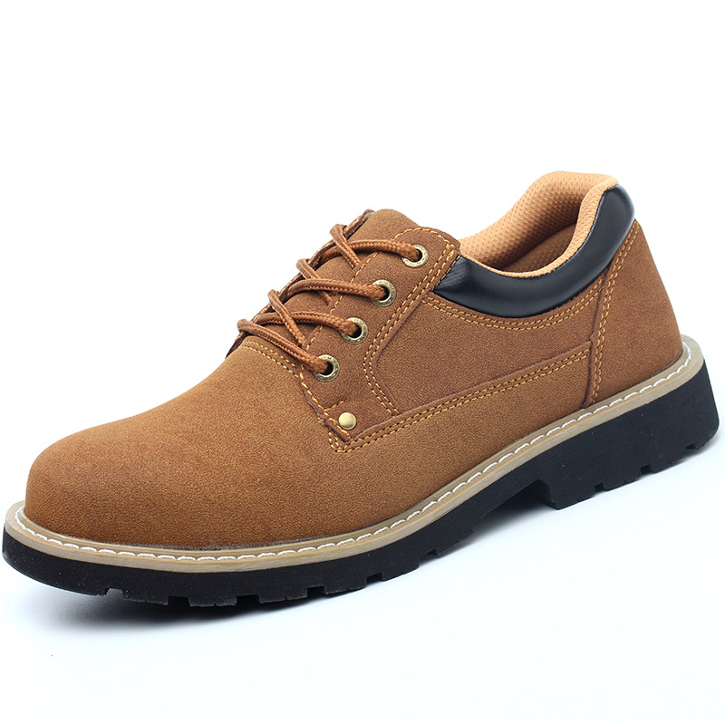 Zhenwei Cow Suede Labor Protection Shoes Welded Shoes, Smash-proof and Piercing-proof Safety Mens Sneaker