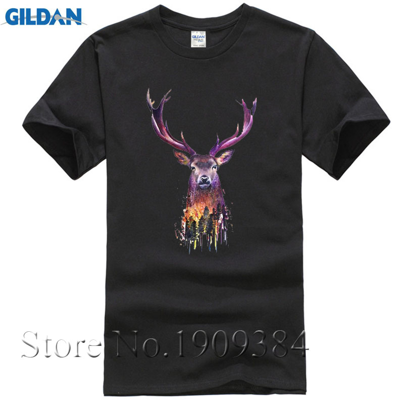 Harajuku Deer Men's White Shirt Dry Fit Polyster Mesh T Shirt Summer Fashion Breathable Shirt Camisetas hombre Christmas Gift
