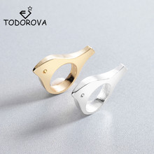 Todorova New Arrival Geometric Rings for Women Men Punk Animal Ring Cute Bird Anel Bague Jewelry Birthday Gift