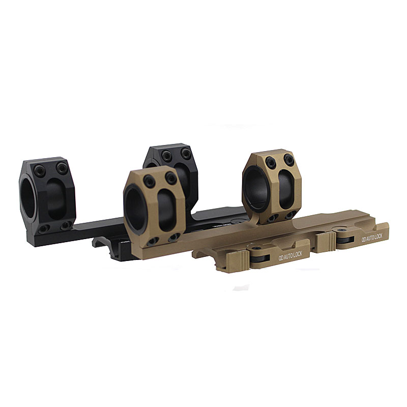 ФОТО Tactical Heavy Duty Rifle Scope Mount Quick Detach Cantilever Ring 25mm 30mm Dual 20mm Rail Auto Lock