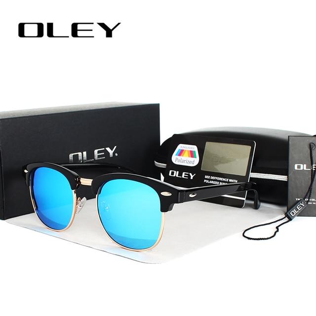 OLEY brands Unisex Classic Sunglasses men women polarized Retro Sun Glasses coating lens candy women goggles Oculos gafas Y3016 2