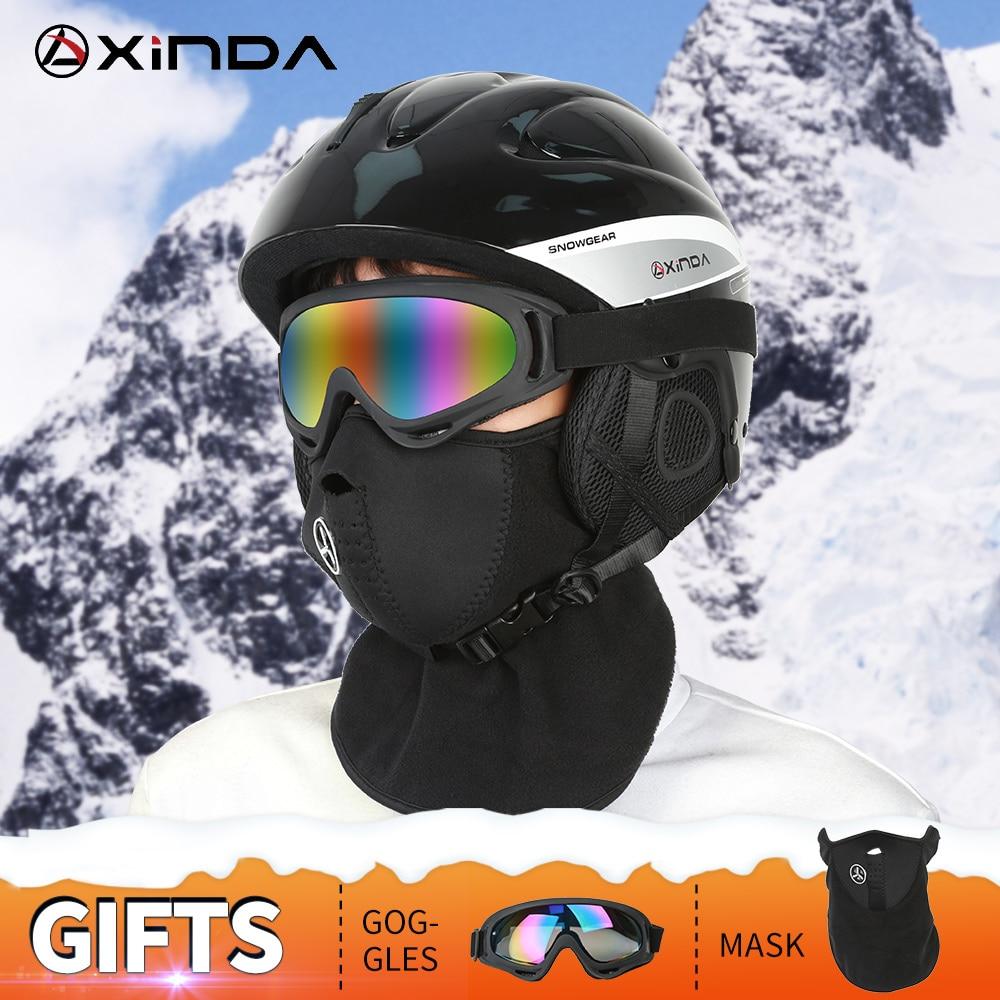 Xinda casque de Ski professionnel casque de cyclisme Snowboard neige casque Skateboard entièrement moulé casque chaud