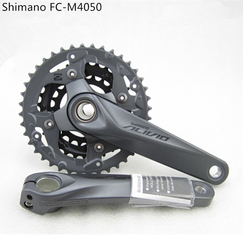 Shimano Alivio M4050 BIKE Bicycle Crank Crankset FC-M4050 Chain Wheel With BB Crank 170 175mm HollowTech Bicycle Parts