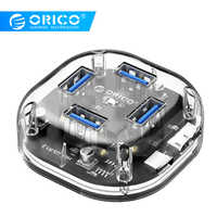 ORICO Transparent HUB Multi 4 7 Port High Speed USB3.0 Splitter With Micro USB Power Interface for Laptop PC Tablet OTG Adapter