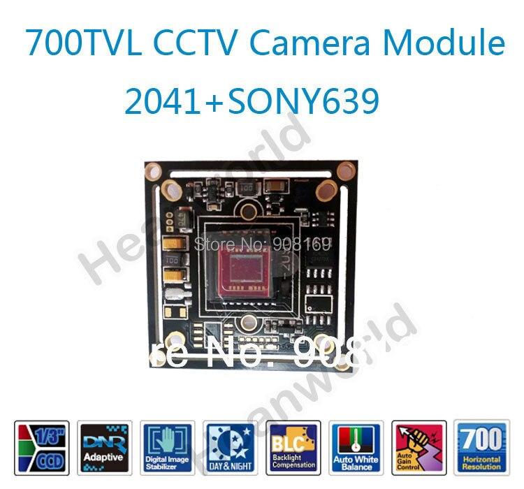 imágenes para Caliente 700TVL CCD junta cámara módulo CCTV cámara, 2041 + SONY 639, CCTV cámara aglomerado de seguridad CCTV IR módulo de la cámara del tablero