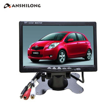 DC 12v - 24v 7 inch 800 x 480 LCD Screen Car Monitor with DVR Function Support SD Card цены