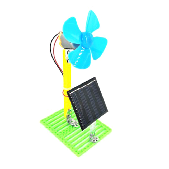 Solar Powered Electric Fans DIY  2