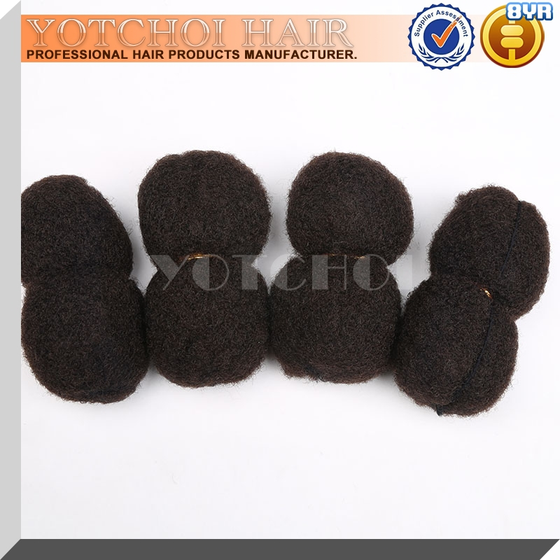 YONNA TIGHT AFRO KINKY BULK HAIR 4PCS/LOT 100% HUMAN HAIR FOR DREADLOCKS,TWIST BRAIDS NATURAL BLACK COLOUR 1B#,LENGTH 6