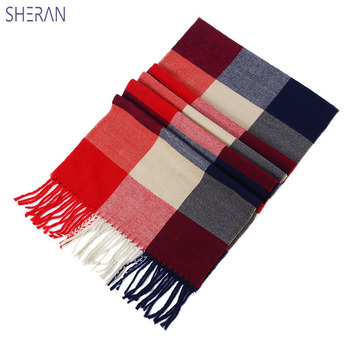 2018 Male Female Autumn Winter Wool Imitation Cashmere Thicken Warm Double Faced Lovers Scarf Korean Edition British Plaid Scarf