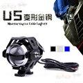 Motorcycle headlight lens cree led chip headlamps u5 auxiliary lamp super bright Motorbike spotlights head car fog lights DRL