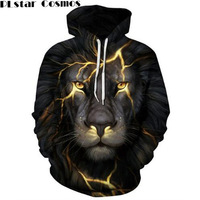 PLstar Cosmos Harajuku Wolf Lion Animals 3D All Over Print Men Women Hoodie Sweatshirt Jumper Unisex