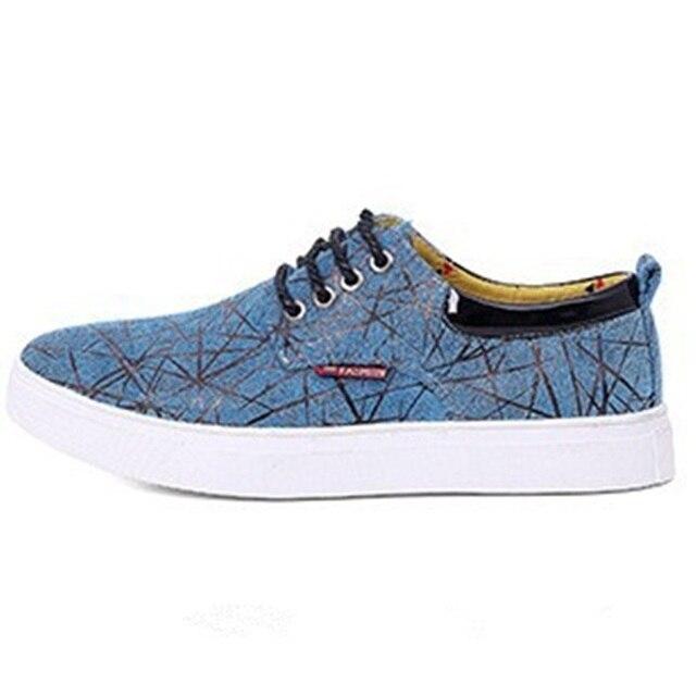 Мужская новый холст плюс размер (8-17) платформа кроссовки скейтбординг обувь открытый спортивная обувь летом стиль мокасины