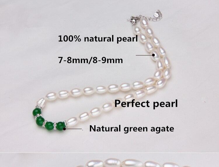 2d90b3279b34 Genuino ser impecable 7-8mm AAAAAnatural perla 100% Natural collar ...