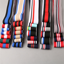 45 yards/lot  Nylon Jacquard Stripe Intercolor Elastic Band for Skirt Trousers Garment Accessories