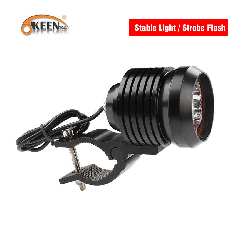 OKEEN 2x Motorcycle Headlight 3000Lm 60W High Beam Low Beam Flash Stobe Light LED Driving Spot Head Bulb Light Lamp 6000K White