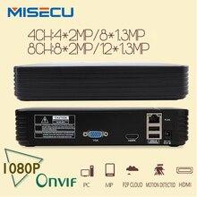Nuevo 8Ch 4Ch Mini NVR Full HD P2P real Independiente CCTV 1920*1080 P ONVIF NVR 2.0 Para Sistema de Cámaras de Seguridad IP De 1080 P cámara