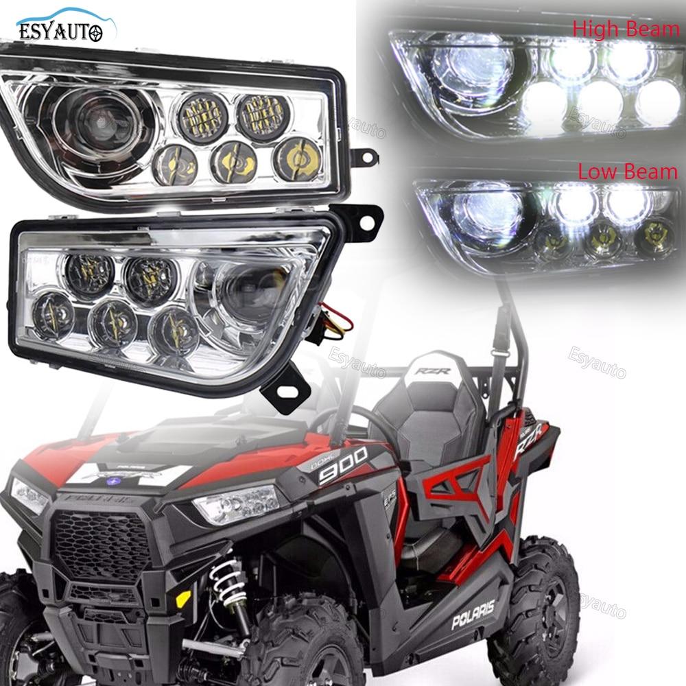 esyauto led le ri high low headlight car accessories headlamp for polaris rzr 800 800s 2007 2014 polaris rzr 4 800 2010 2014 [ 1000 x 1000 Pixel ]