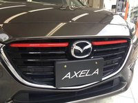 2pcs Red ABS Chrome Front Grill Cover Trims Strip Accessories For Mazda 3 BN Axela M3