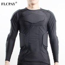 Мягкая компрессионная рубашка ребра защита груди для футбола баскетбола пейнтбола велоспорта Мужская мягкая компрессионная Рубашка Защитная
