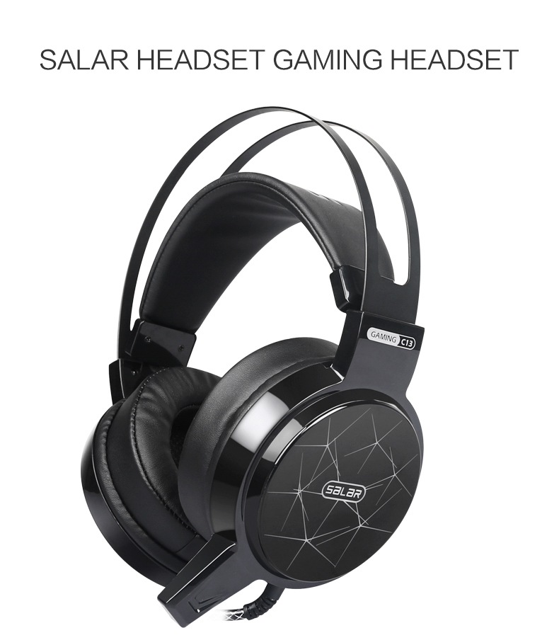 salar c13 gaming headset wired pc stereo earphones Salar C13 Gaming Headset Wired PC Stereo Earphones HTB1oAw7O4TpK1RjSZFMq6zG VXa5