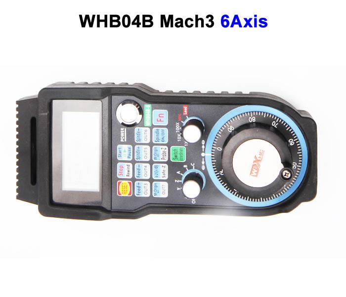 Wireless USB MPG Electronic Handwheel WHB04B 6Axis CNC Mach3 hand wheel engraving machine remote control handwheel mach3 mpg usb wireless handwheel for cnc 3 4 axis controller milling machine a545a