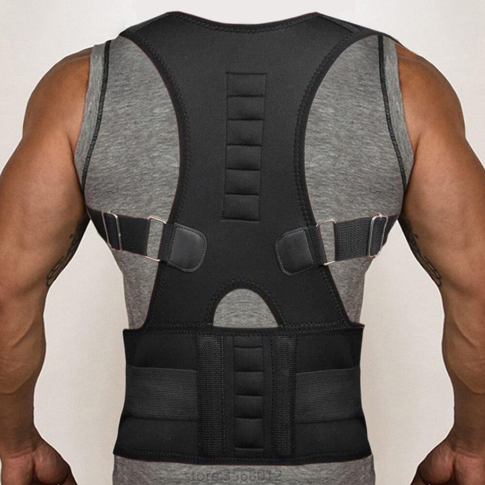 Health Care Adjustable Men Women Posture Corrector Brace Back Shoulder Support Magnetic Correction Underwear Belt Shaper Corset