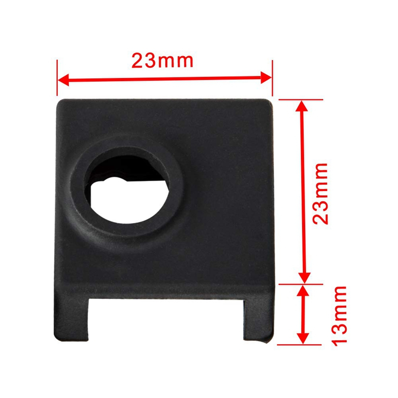 Image 5 - 3D Printer Heater Block Silicone Cover Mk7/Mk8/Mk9 Hotend For Ender 3, Ender 3 Pro, Cr 10,10S,S4,S5 Anet A8 And Extruder Nozzl-in 3D Printer Parts & Accessories from Computer & Office
