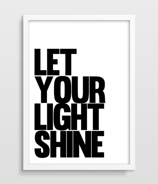 Print Petter Picture Let Your Light Shine Inspirational Quote