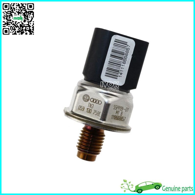 ФОТО Original Fuel Rail Pressure Sensor Drucksensor For Audi Q7 A4 S4 A5 S5 A6  S6 A8 S8 4.2 TDI 059130758E, 55PP09-01, 059 130 758E