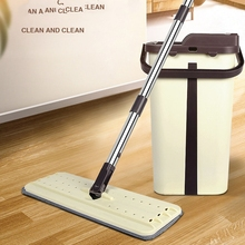 Floor Squeeze Magic Cleaner Flat Mop 360 Degree Microfiber Elescopic Mops And With Bucket Hand Rotating Head Free Wringing Tools