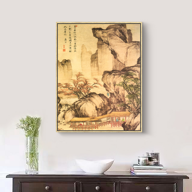 National Painting Chinese Style Oil Paint Spring Green Scene Picture ...