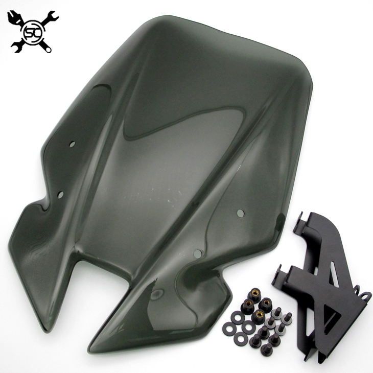 Free Shipping Motorcycle Windshield WindScreen Visor Viser Fits For Yamaha New MT09 MT-09 17 FZ-09 FZ09 2017 Double Bubb