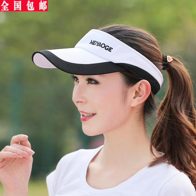 Summer outdoor sports men and ladies tennis visor cap baseball hat sun hat  female Korean tidal Visors 9486689068b